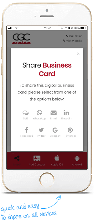 Share Your Digital Business Card